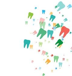 Teeth pattern background vector