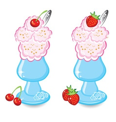 two bowls icecream vector image