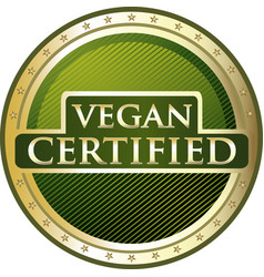 vegan certified icon vector image vector image