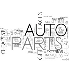 Where to buy the cheapest auto parts text word vector