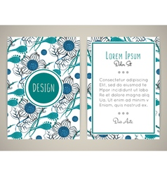 Cover design with floral pattern vector