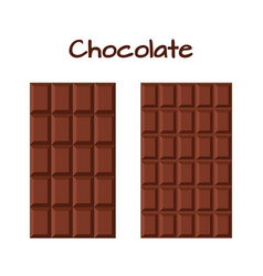 milky dark chocolate cacao product flat style vector image