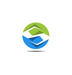 s circle abstract logo vector image