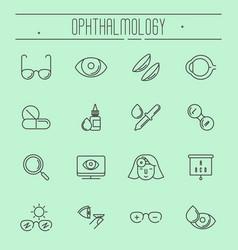Big set of symbols of ophthalmology vector