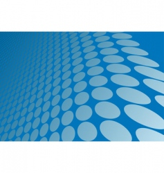 Abstract blue wavy circles background vector