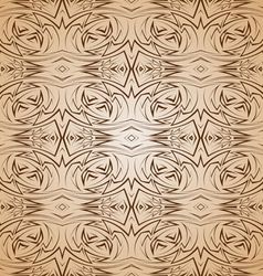 Abstract pattern in brown and beige vector