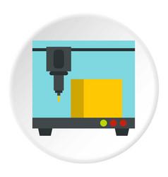 3d printer icon circle vector