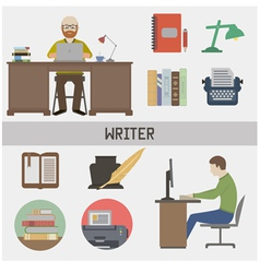 Writer vector image