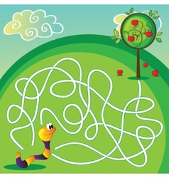Maze for children vector