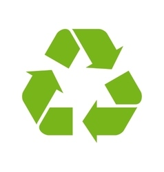 Green recycle symbol vector