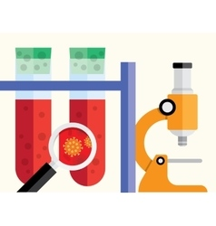 Medical research background vector
