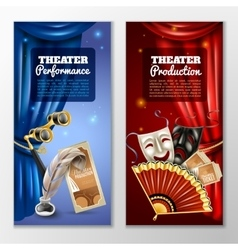 Theatre banners set vector
