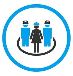 Worker social links icon vector
