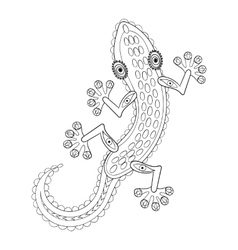 Zentangle Lizard totem for adult anti stress vector image