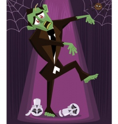 zombie halloween vector image