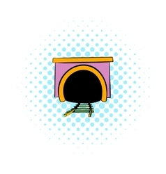 Tunnel icon comics style vector