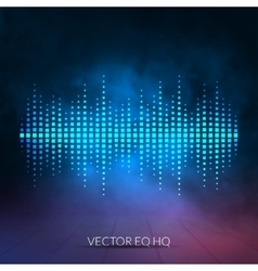 digital equalizer with colored lights and vector image