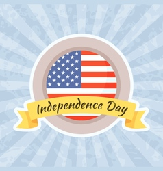 Emblem for independence day and fourth of july vector