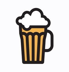beer simple1 vector image vector image