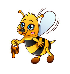 cartoon bee isolated vector image