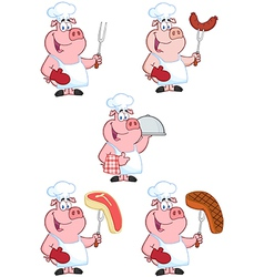 Chef Pigs Collection vector image