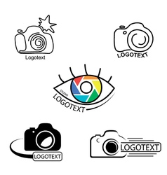 collection of photography logo templates vector image