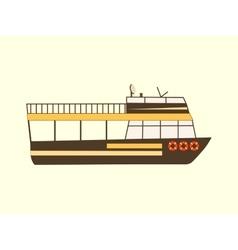 Color retro travel boat vector