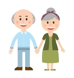 grandparents silhouette isolated icon vector image