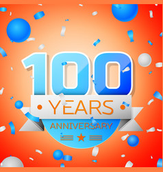 Hundred years anniversary celebration vector