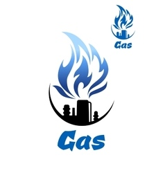 Natural gas refinery factory icon vector