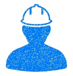 Person in hardhat grainy texture icon vector