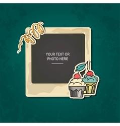 Photo frame birthday vector image vector image