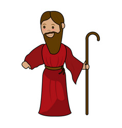 saint joseph cartoon vector image