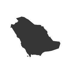 Saudi arabia map vector
