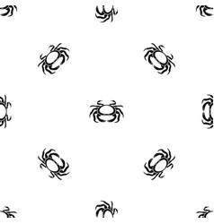Seafood crab pattern seamless black vector
