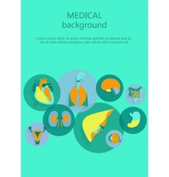 Template of medical background vector image