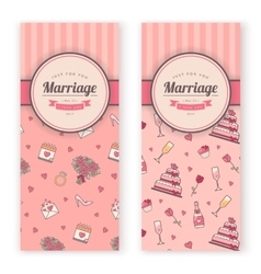 Wedding banner template vector