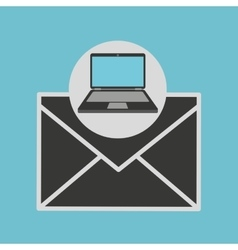 Laptop computer newsletter message vector