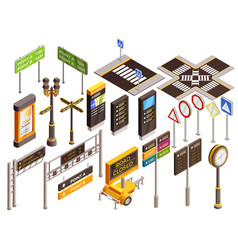 urban direction signs set vector image