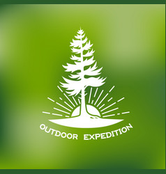 Outdoor logo vector