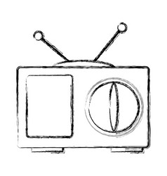 Old tv technology vector