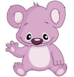 baby koala waving vector image