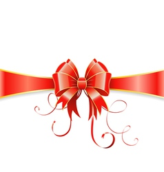 Bow and ribbon vector