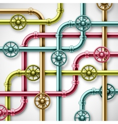 Colorful pipes vector