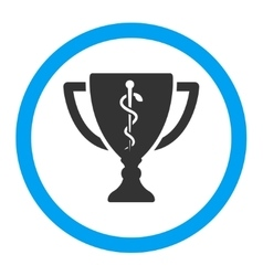 Medical cup rounded icon vector