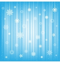 The hanging snowflakes vector image