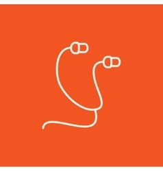 Earphone line icon vector