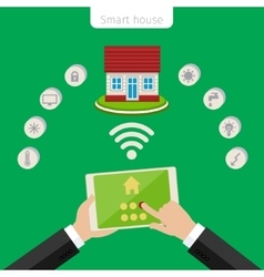 Concept of smart house vector