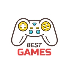 Games store logo template game controller icon vector