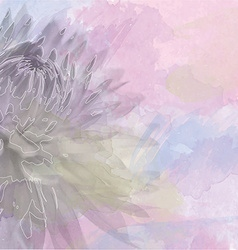 flower background on soft pastel color in blur vector image